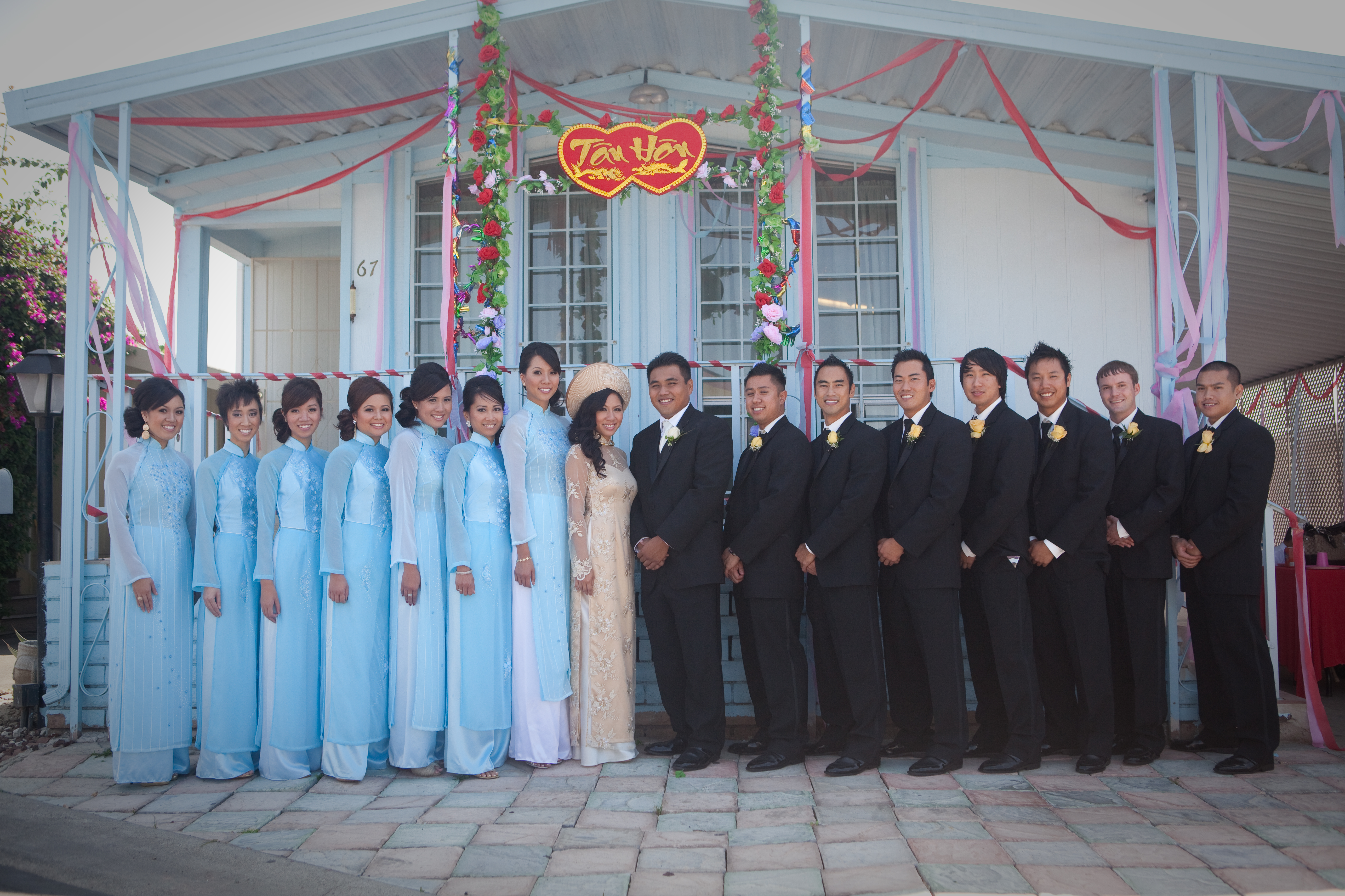 Bridal Party Outfits | Tammy and Phat\'s Wedding Blog